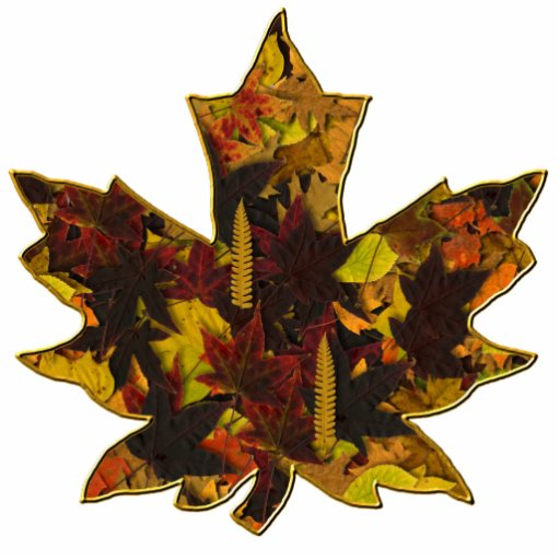Jóia - Pin - folhas de outono no ouro Esculturafoto