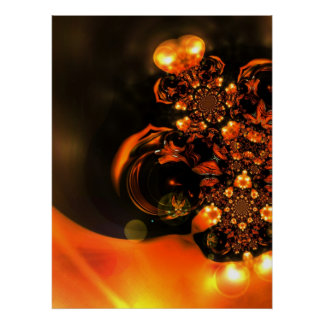 Jóias da laranja da arte abstracta de Digitas do Poster