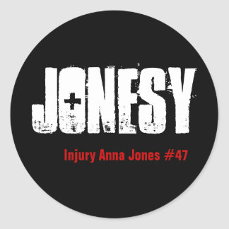 Jonesy, ferimento Anna Jones #47 Adesivo Em Formato Redondo