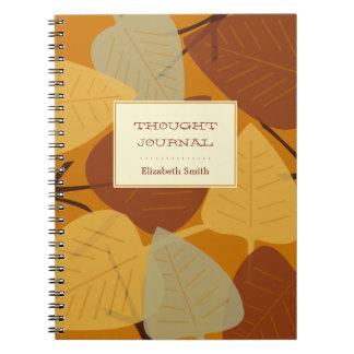 Jornal pessoal dispersado moderno do outono das fo caderno espiral