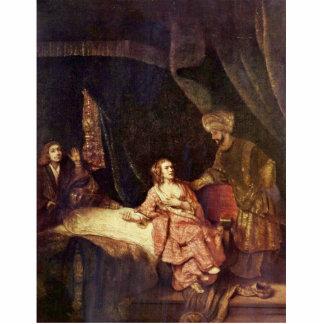 Joseph é acusado pela esposa de Potiphar por Rembr Foto Escultura