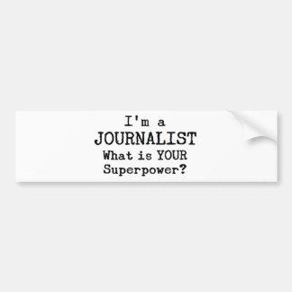 journalista adesivo de para-choque