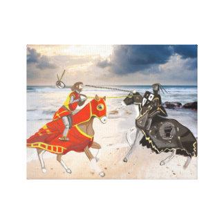 Joust medieval no litoral remodelado impressão em canvas