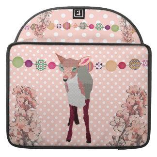 Jovem corça cor-de-rosa bonito Macbook da flor de Bolsa MacBook Pro