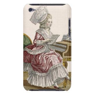Jovem mulher que estuda a música em seu cravo, pla capas iPod Case-Mate