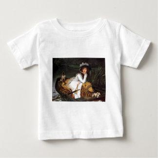 Jovem senhora de Tissot e pintura antiga do pug T-shirt