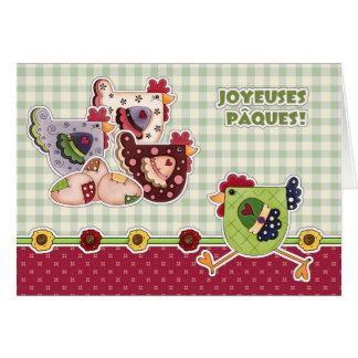 Joyeuses Pâques. Cartões de páscoa franceses