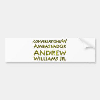 Jr. das conversações w/Ambassador Andrew Williams Adesivo Para Carro