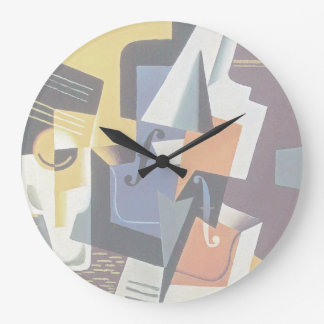 Juan Gris - violino e vidro - arte abstracta Relógio Grande