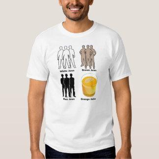 Judeus alaranjados camisetas