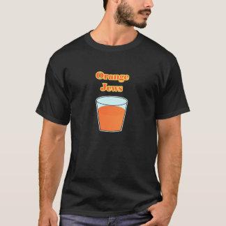 Judeus alaranjados - preto camisetas