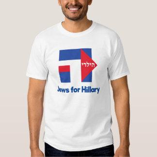 JUDEUS HEBREUS para o presidente 2016 de Hillary T-shirts