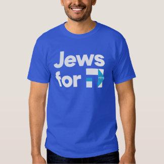 Judeus para a camisa hebréia azul de H Hillary T-shirt