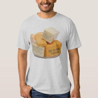 Judeus para queijos - lute a intolerância à camisetas