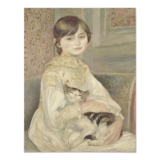 Julie Manet por Pierre-Auguste Renoir Convite 10.79 X 13.97cm