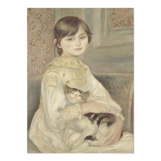 Julie Manet por Pierre-Auguste Renoir Convite 13.97 X 19.05cm