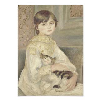 Julie Manet por Pierre-Auguste Renoir Convite 12.7 X 17.78cm