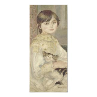 "Julie Manet por Pierre-Auguste Renoir Convite 10.16"" X 23.49cm"