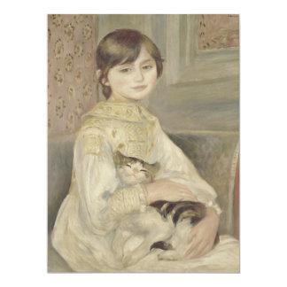 "Julie Manet por Pierre-Auguste Renoir Convite 16.51"" X 22.22cm"