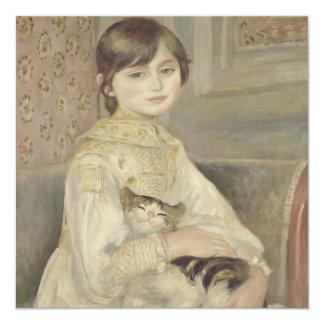 Julie Manet por Pierre-Auguste Renoir Convite Quadrado 13.35 X 13.35cm