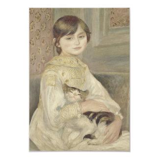 Julie Manet por Pierre-Auguste Renoir Convite 8.89 X 12.7cm
