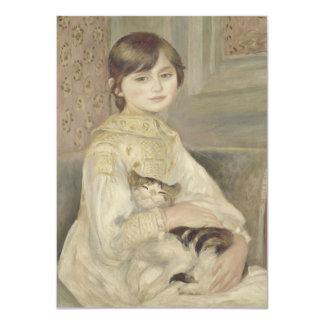 Julie Manet por Pierre-Auguste Renoir Convite 11.30 X 15.87cm