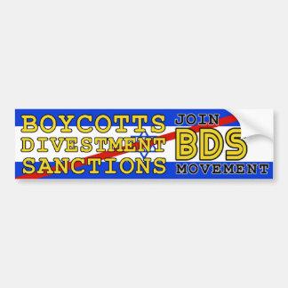 Junte-se ao boicote Israel do movimento de BDS Adesivo Para Carro