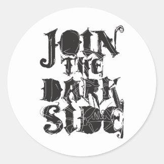 Junte-se ao lado escuro adesivo