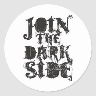 Junte-se ao lado escuro adesivos redondos