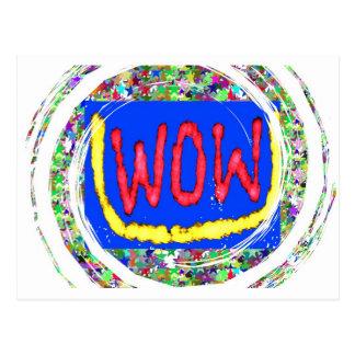 Junte-se ao partido do fator do wow:  Presente um  Cartao Postal