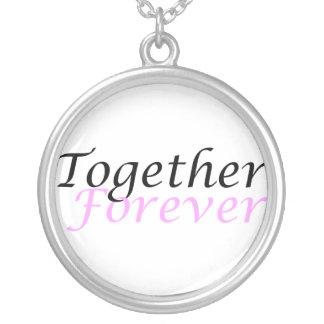 Junto para sempre (01) colar redonda
