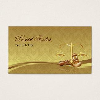 Justiça do advogado do advogado - folha de ouro cartão de visitas