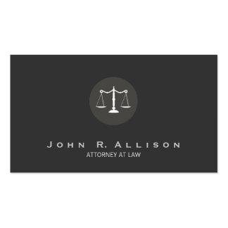 Justiça do advogado escala no. preto e branco 2 cartão de visita
