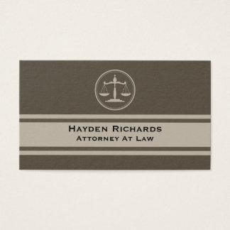 Justiça do advogado escala o advogado cartão de visitas