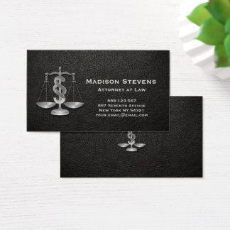 Justiça do advogado escala o couro do advogado cartão de visitas