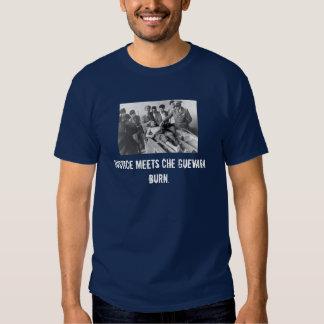 Justiça encontra Che Guevara.  Queimadura Camiseta