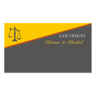 Justiça legal do escritório de advogados do cartão de visita