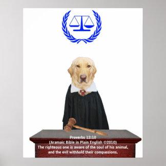Justiça para animais poster