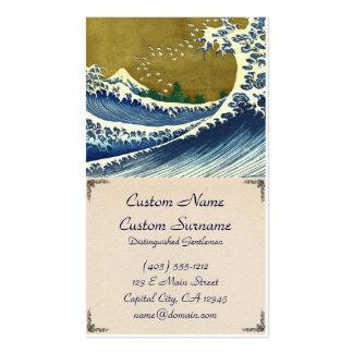 Kaijo nenhuma obra-prima de Kanagawa da onda de Cartão De Visita