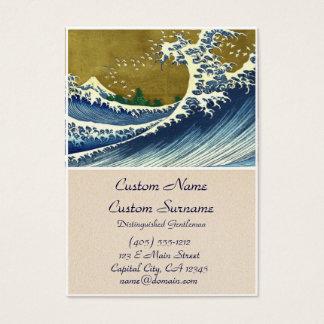 Kaijo nenhuma obra-prima de Kanagawa da onda de Cartão De Visitas