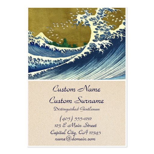 Kaijo nenhuma obra-prima de Kanagawa da onda de Fu Modelos Cartao De Visita