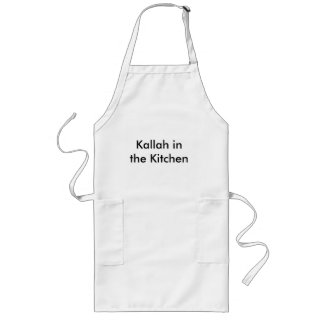 Kallah na cozinha avental longo