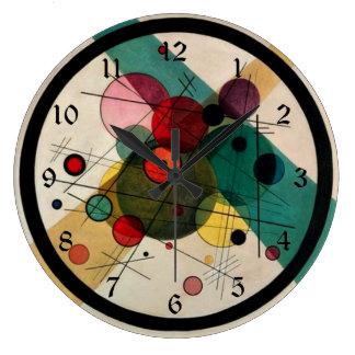 Kandinsky - círculos em um círculo relógio grande