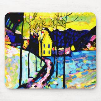 Kandinsky - paisagem do inverno mouse pad