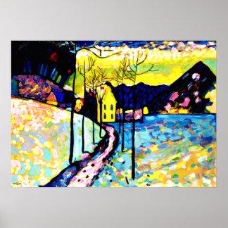 Kandinsky - paisagem do inverno poster