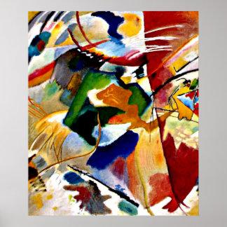 Kandinsky - pintura com centro verde poster