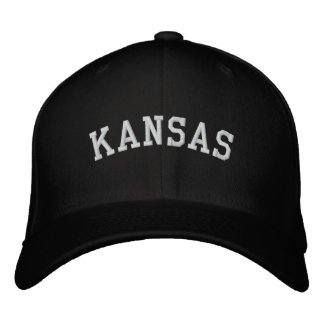 Kansas bordou o preto do boné de lãs de Flexfit