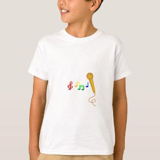 Karaoke feliz da música do canto camiseta