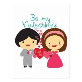 Kawaii Adorabe seja meus namorados Cartão Postal