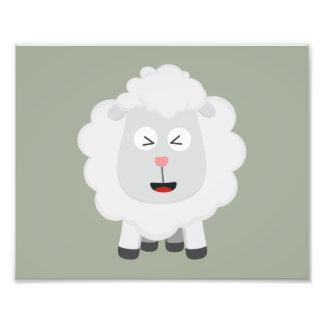 Kawaii bonito Zxu64 dos carneiros Impressão De Foto